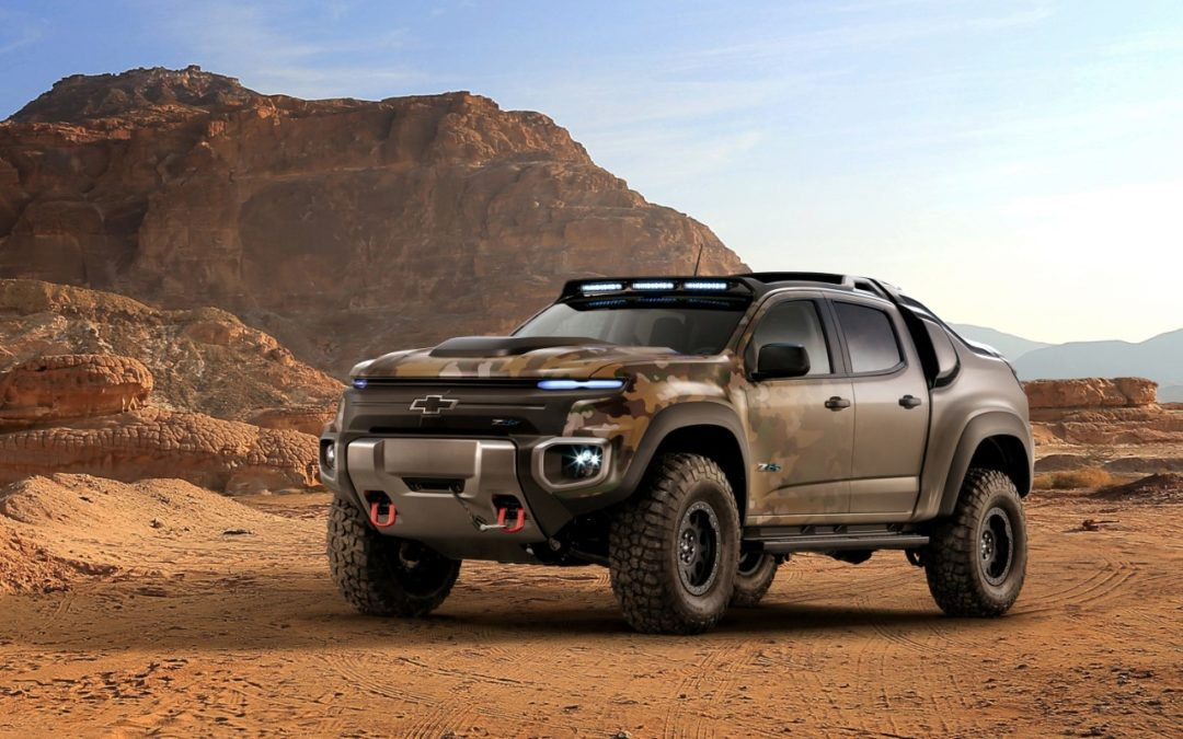 Chevrolet's ZH2 is a Colorado turned hydrogen-powered Army assault vehicle