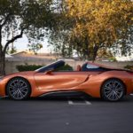 i8 roadster top down side